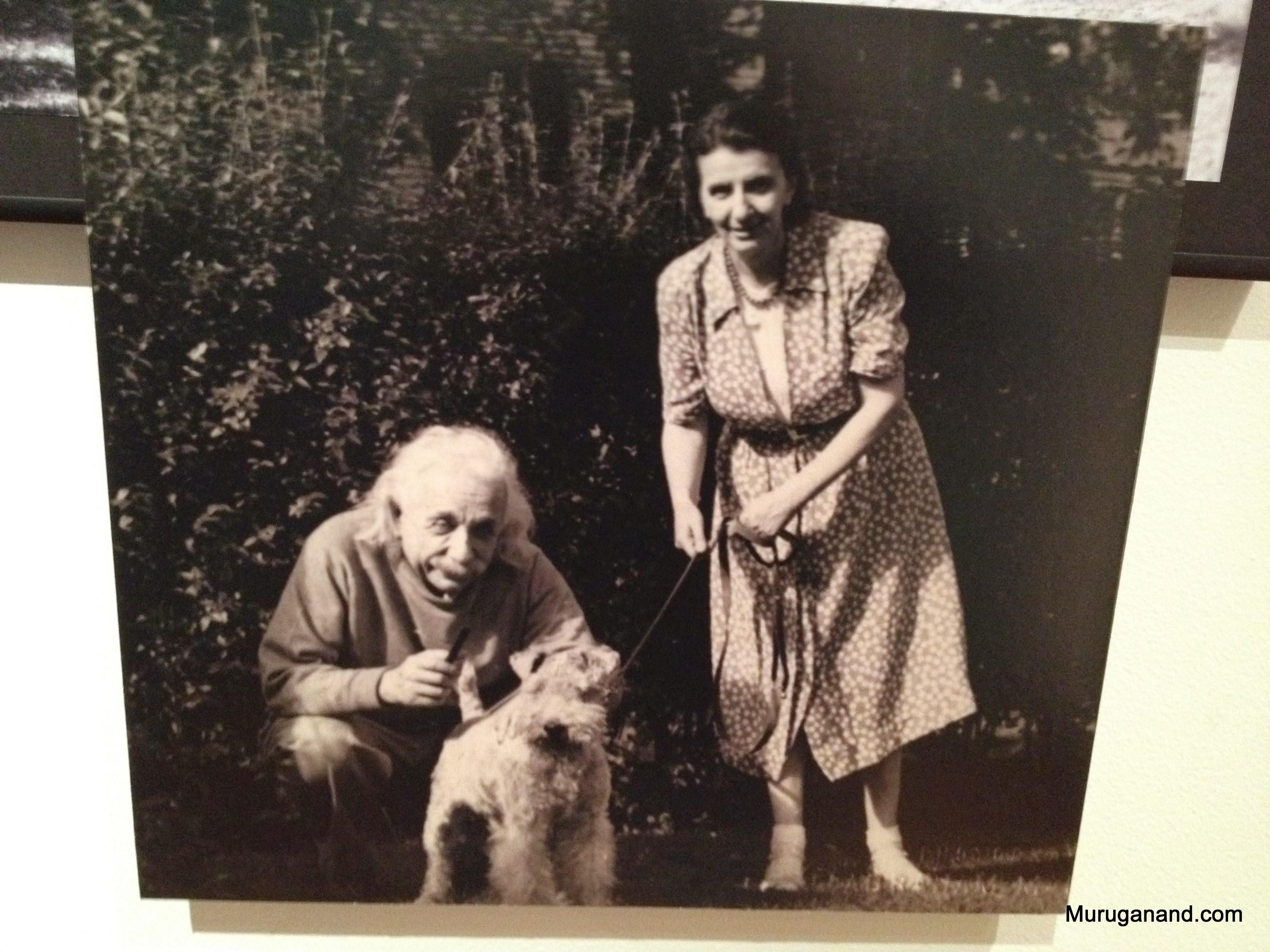 Einstein with his long term secretary Helen Dukas (1896-1982)