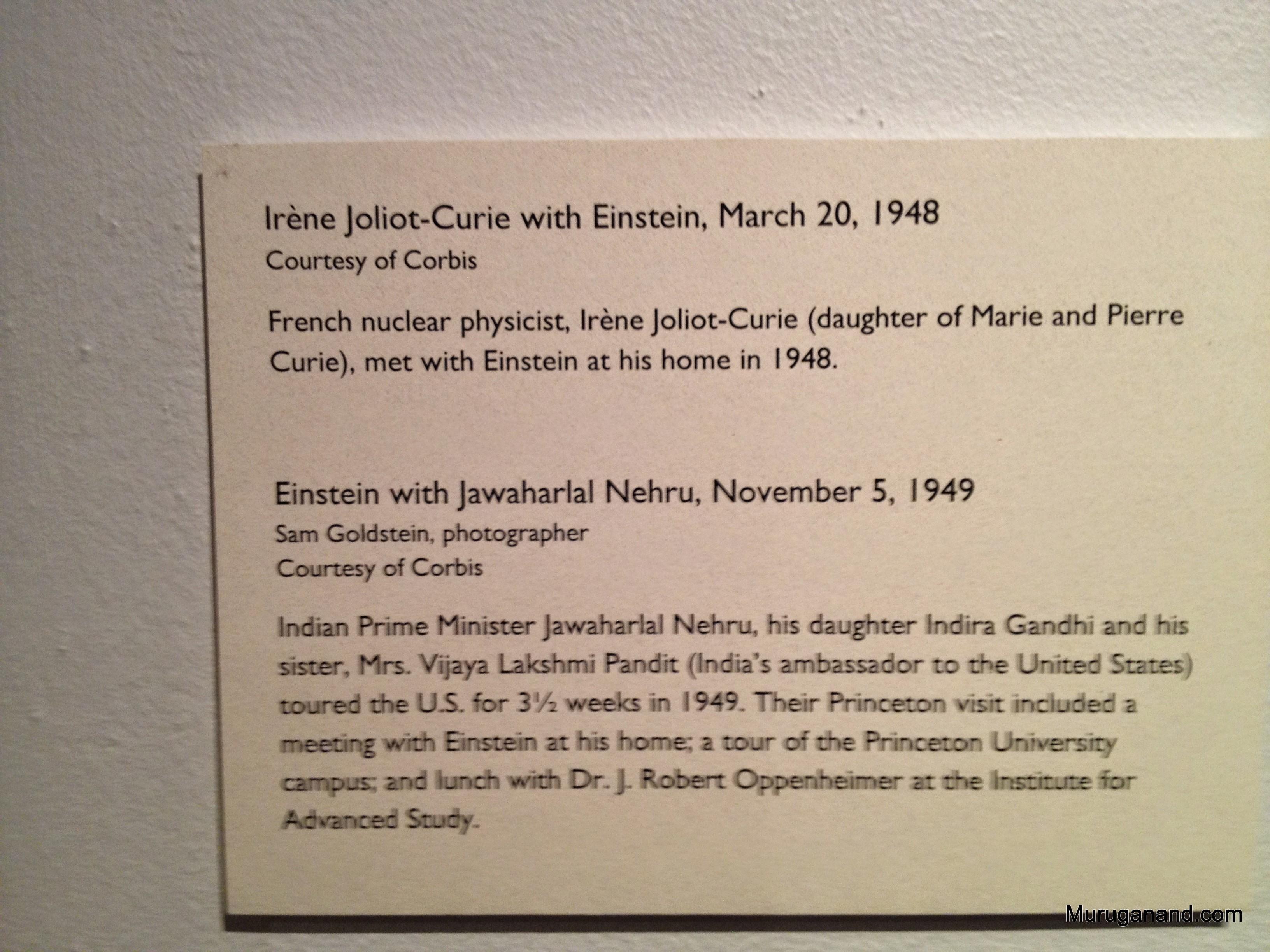 Curie and Nehru