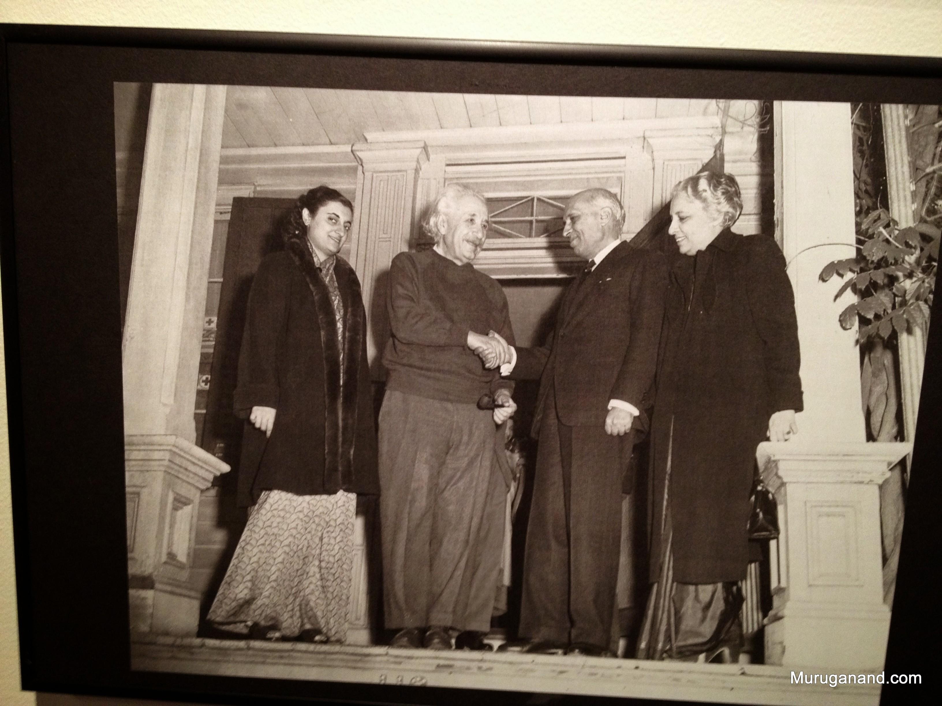 Nehru meets Einstein with Indira and Vijayalakshmi Pandit