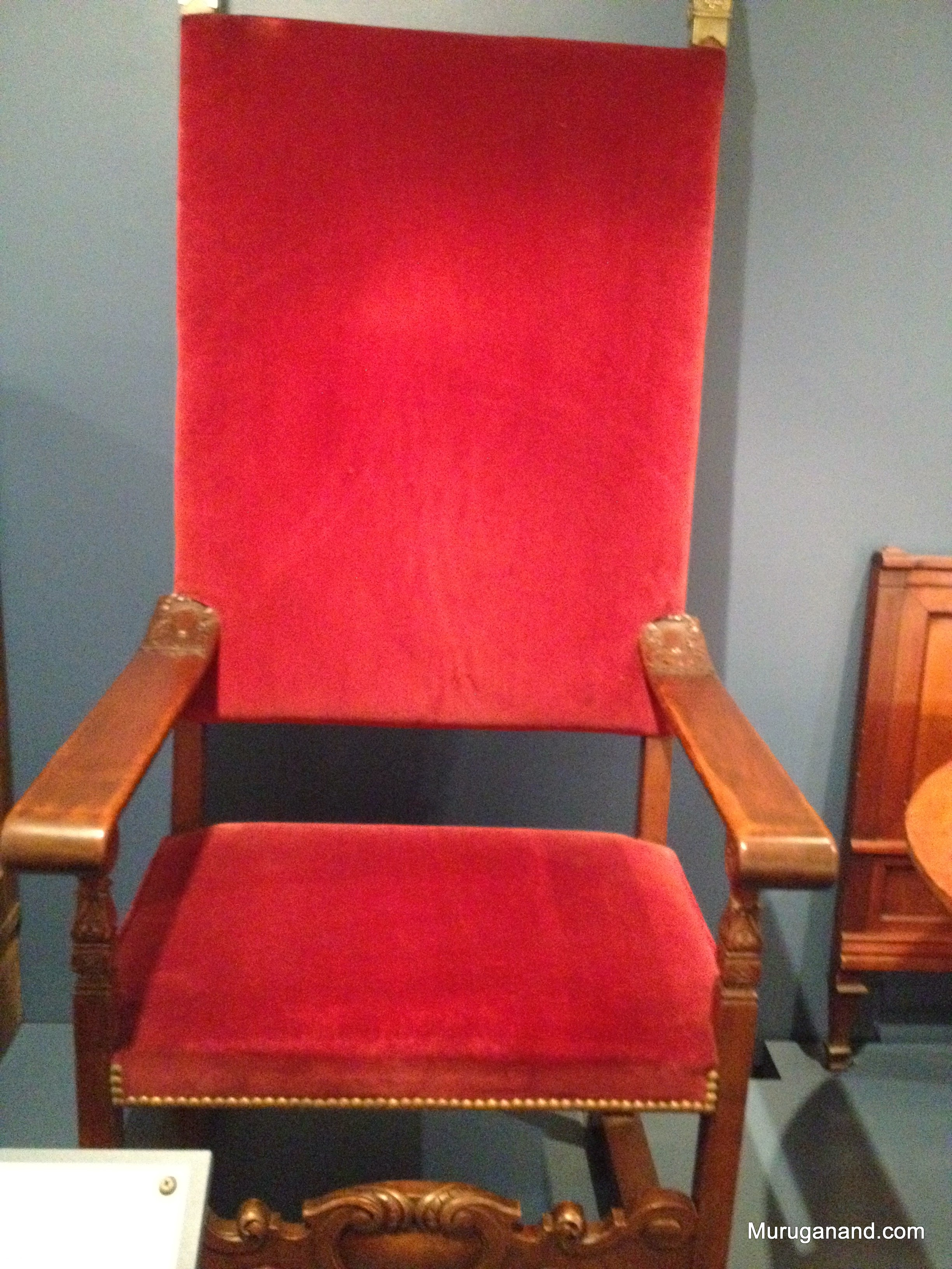 Chair (1880-90)Birch with velour upholsterey