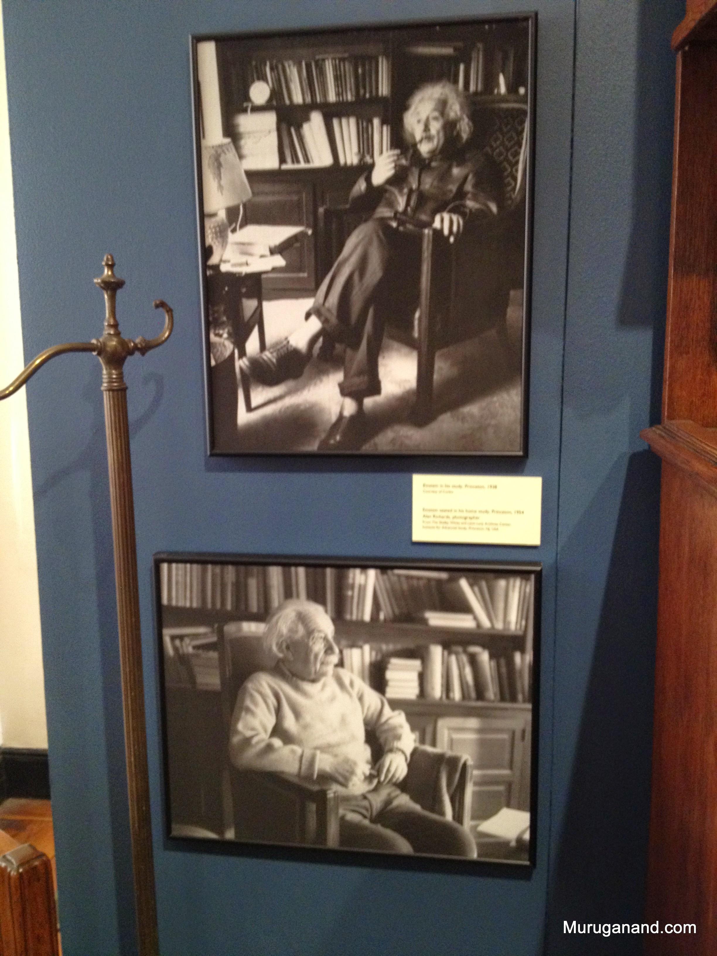 Einstein in his study room