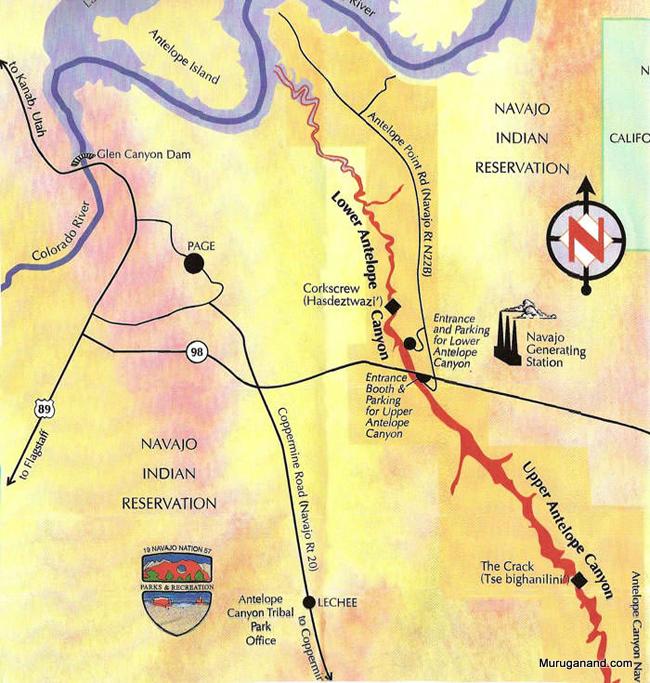 antelope-canyon-map