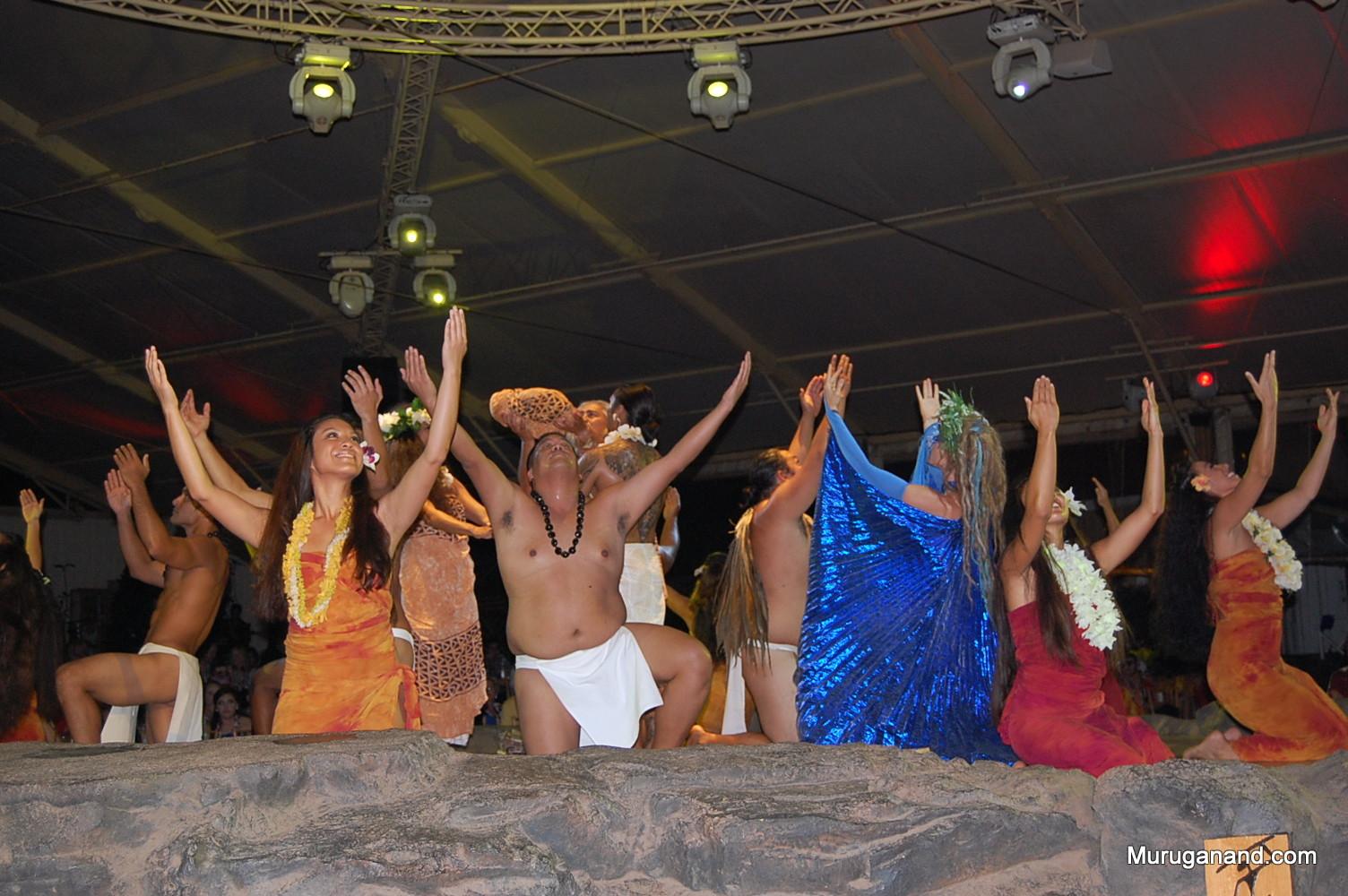 Final Celebration during Luau Performance (Kauai)