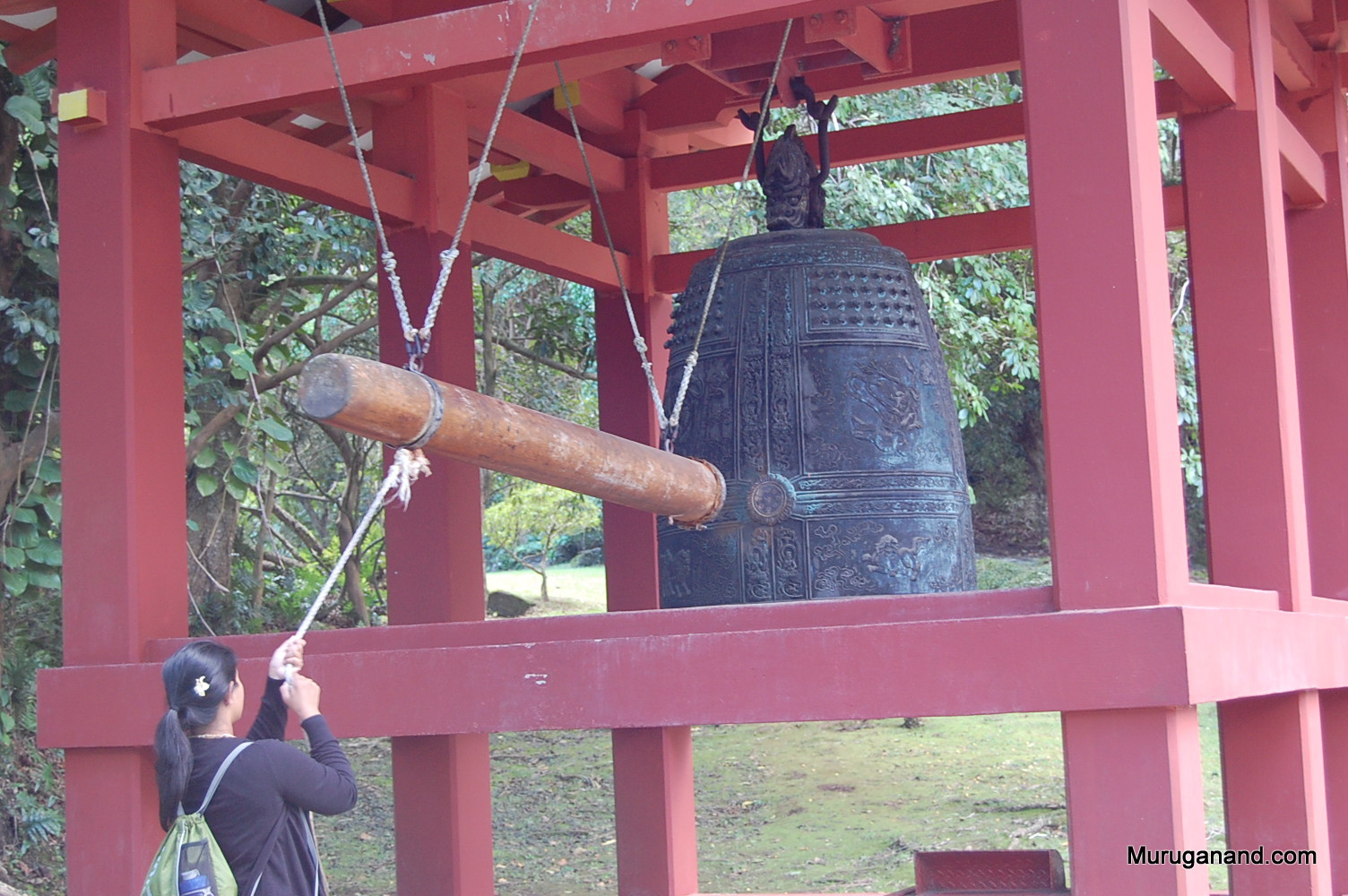 Ringing the Bell for Good Luck (O'ahu)