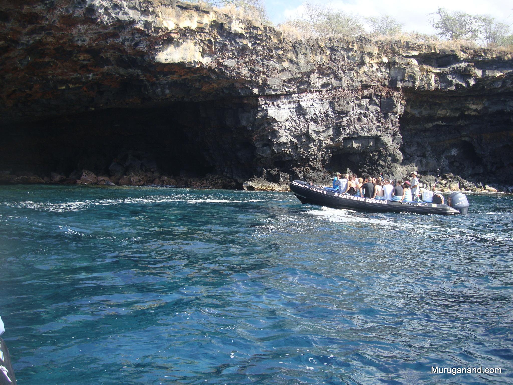 Rafting into Cave (Kona, Hawai'i)