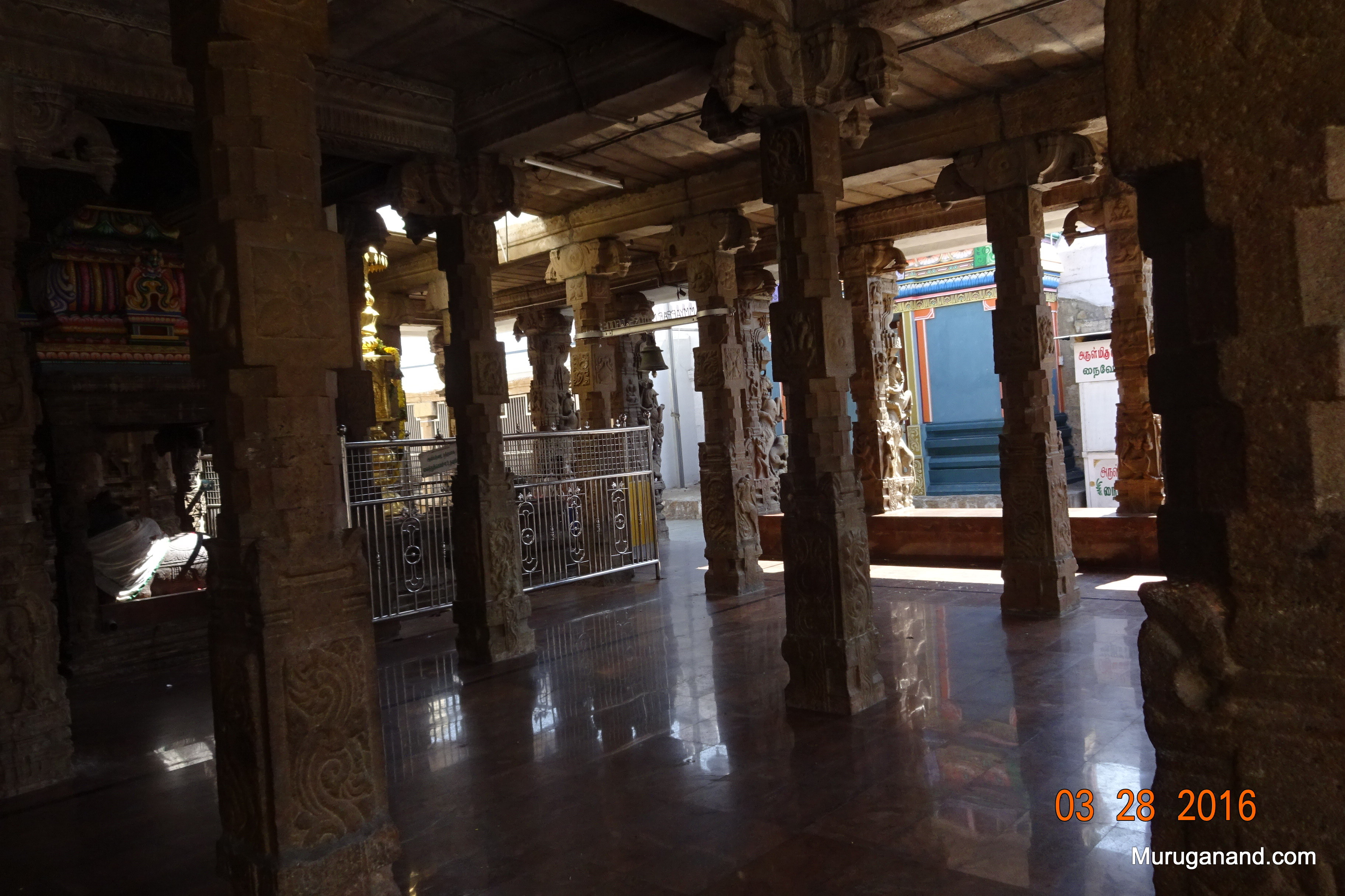One can spend hours, studying every pillar; intricate art