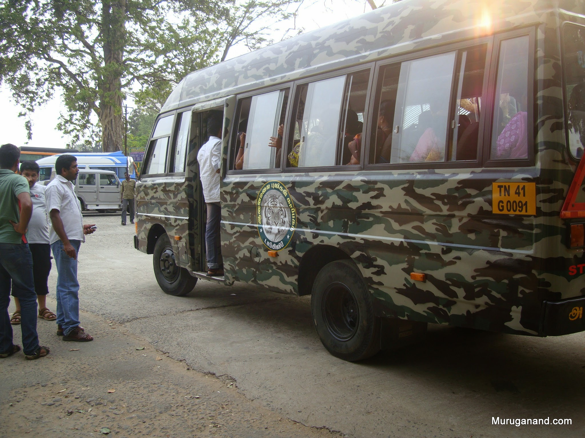 These vans take visitors to Elephant Camp (8 miles) right into the forest