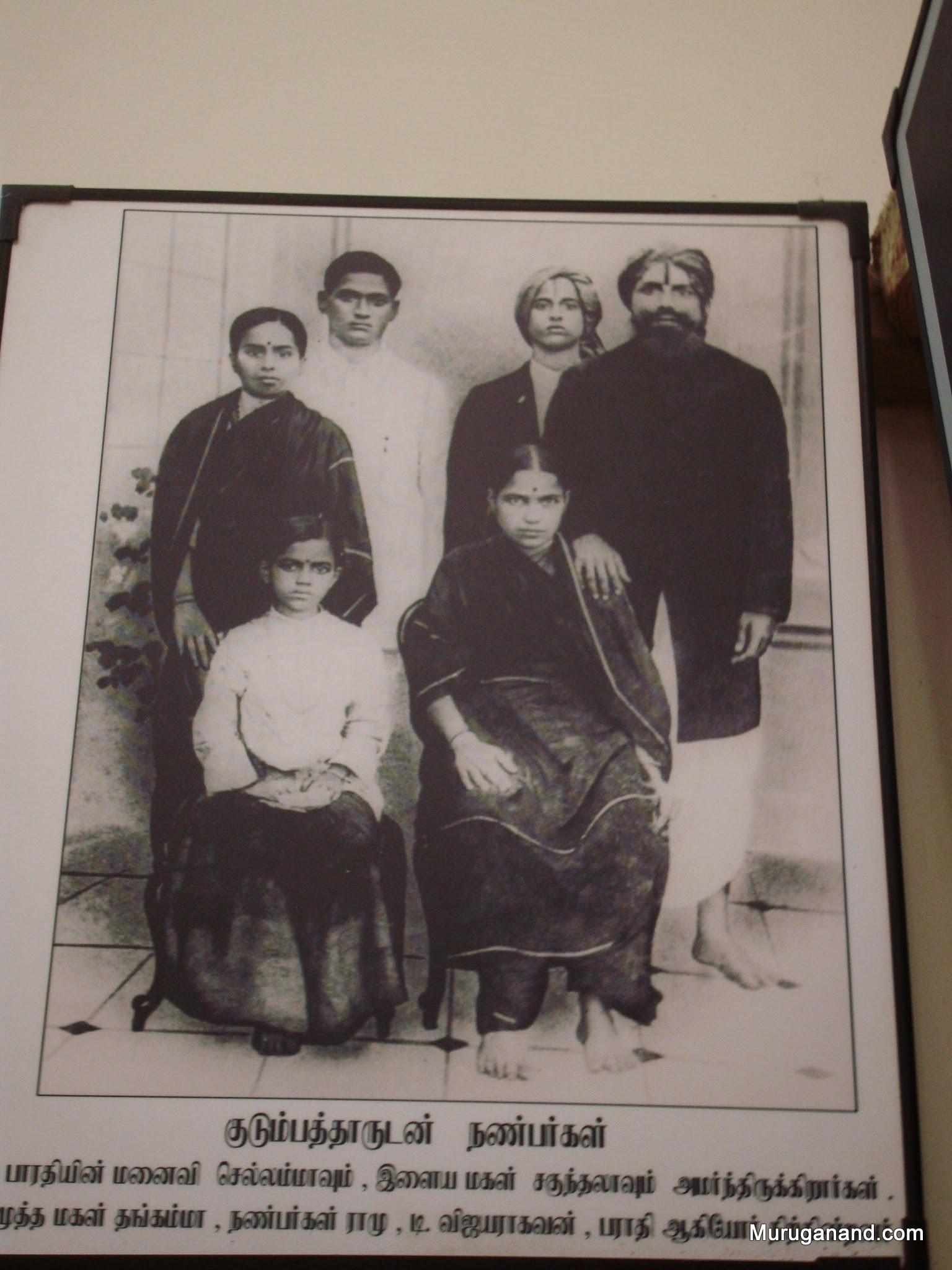 Bharati wrote poems on Chellamma, Thangammal and Sakunthala
