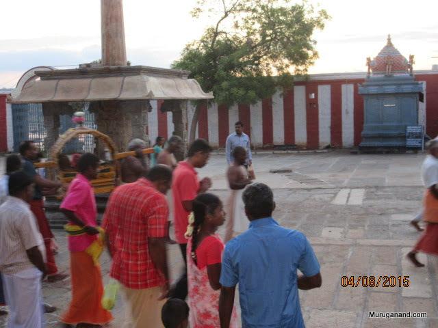 Procession proceeds to Sangameswarar Sannidhi(last year photo)