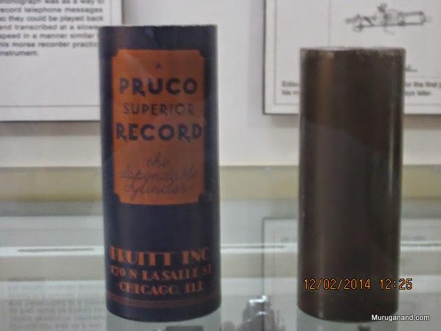 Edison's original gramophone cylinder