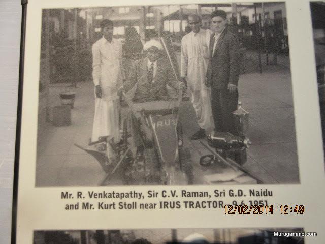 Sir C V Raman visting GDN's Research Lab