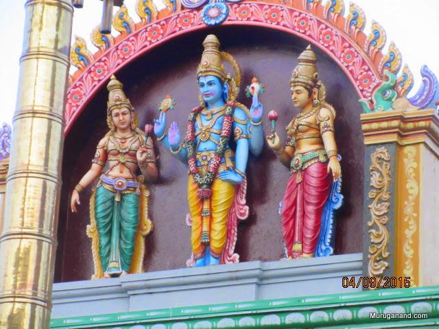 Temple top has various Gods