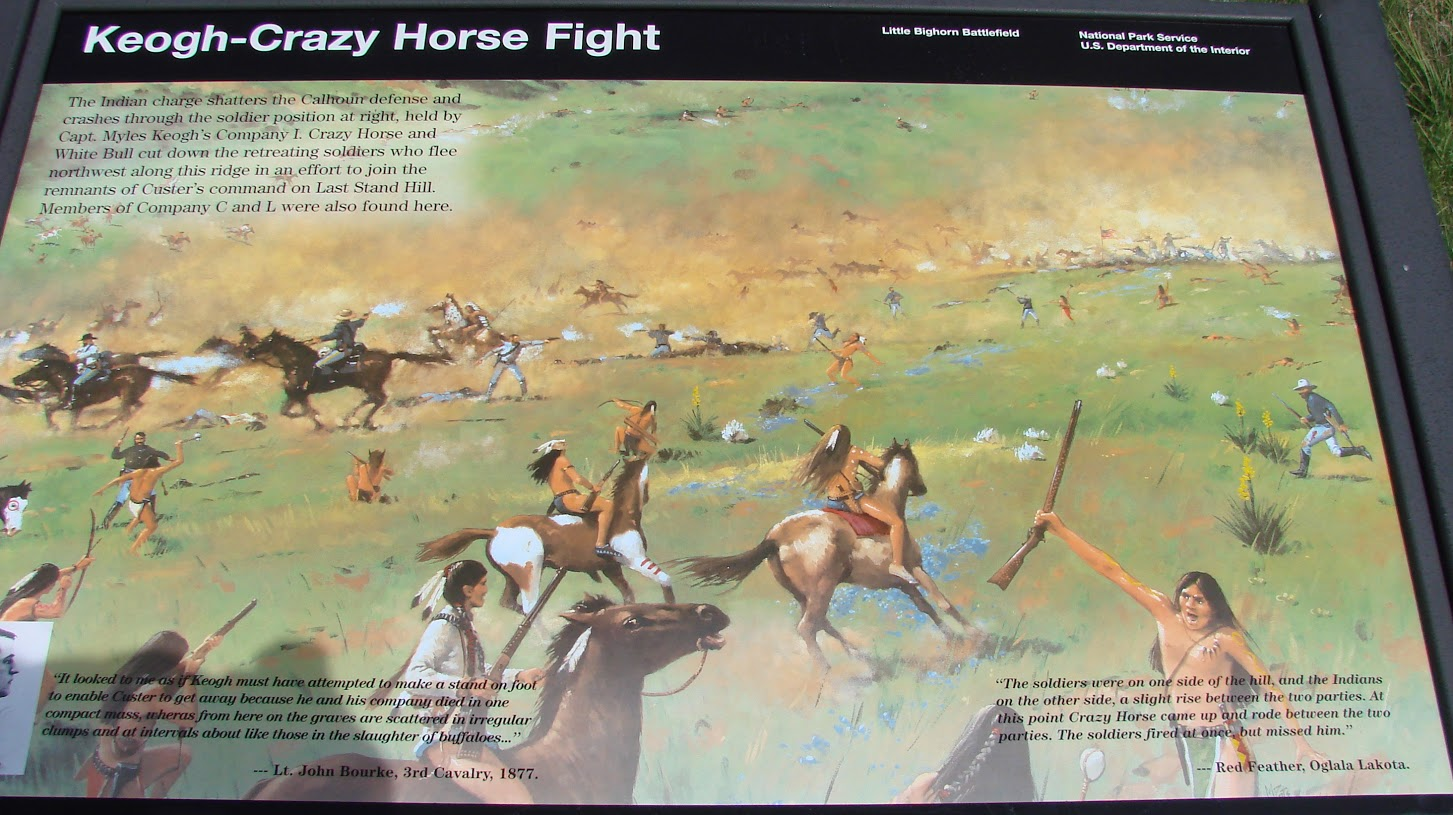 Bull and Horse fight Custer