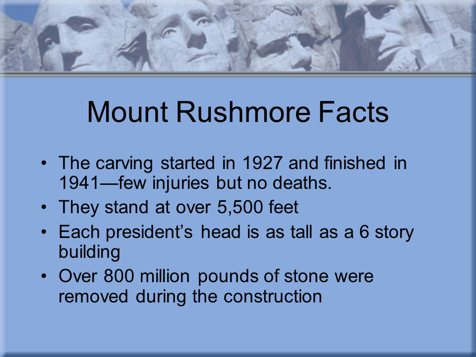 Mt Rushmore facts