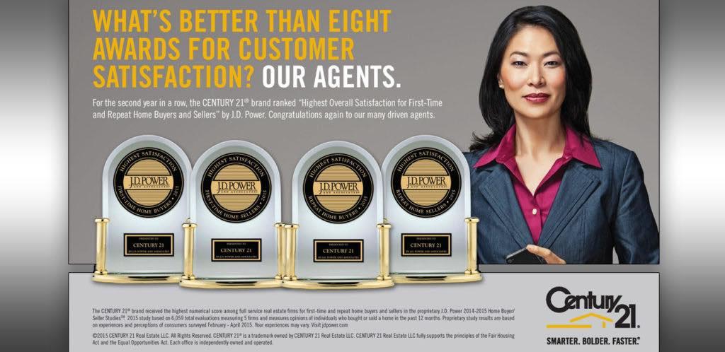 Century 21 Customer Satisfaction JD Power Awards