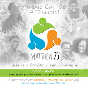 We Are A Matthew 25 Church