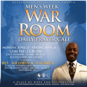 Men's Week War Room