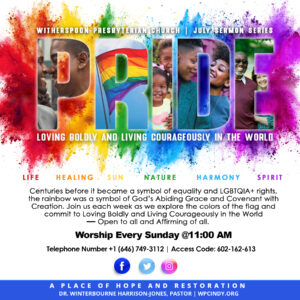 PRIDE: July Sermon Series