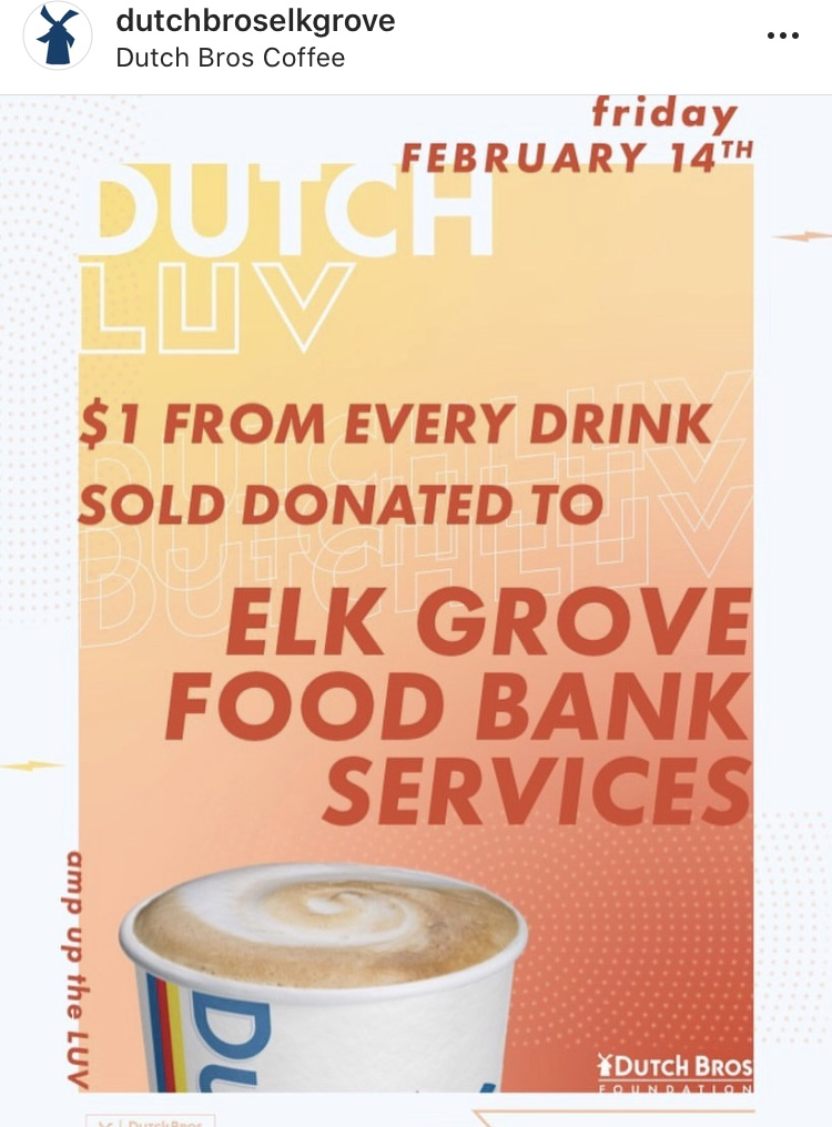 Dutch Luv Day - $1 from every drink sold at Dutch Bros Elk Grove goes to EGFBS