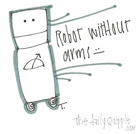 Robot without arms.