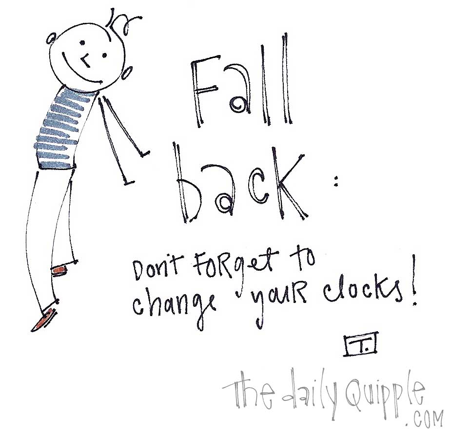 Fall back: don't forget to change your clocks!