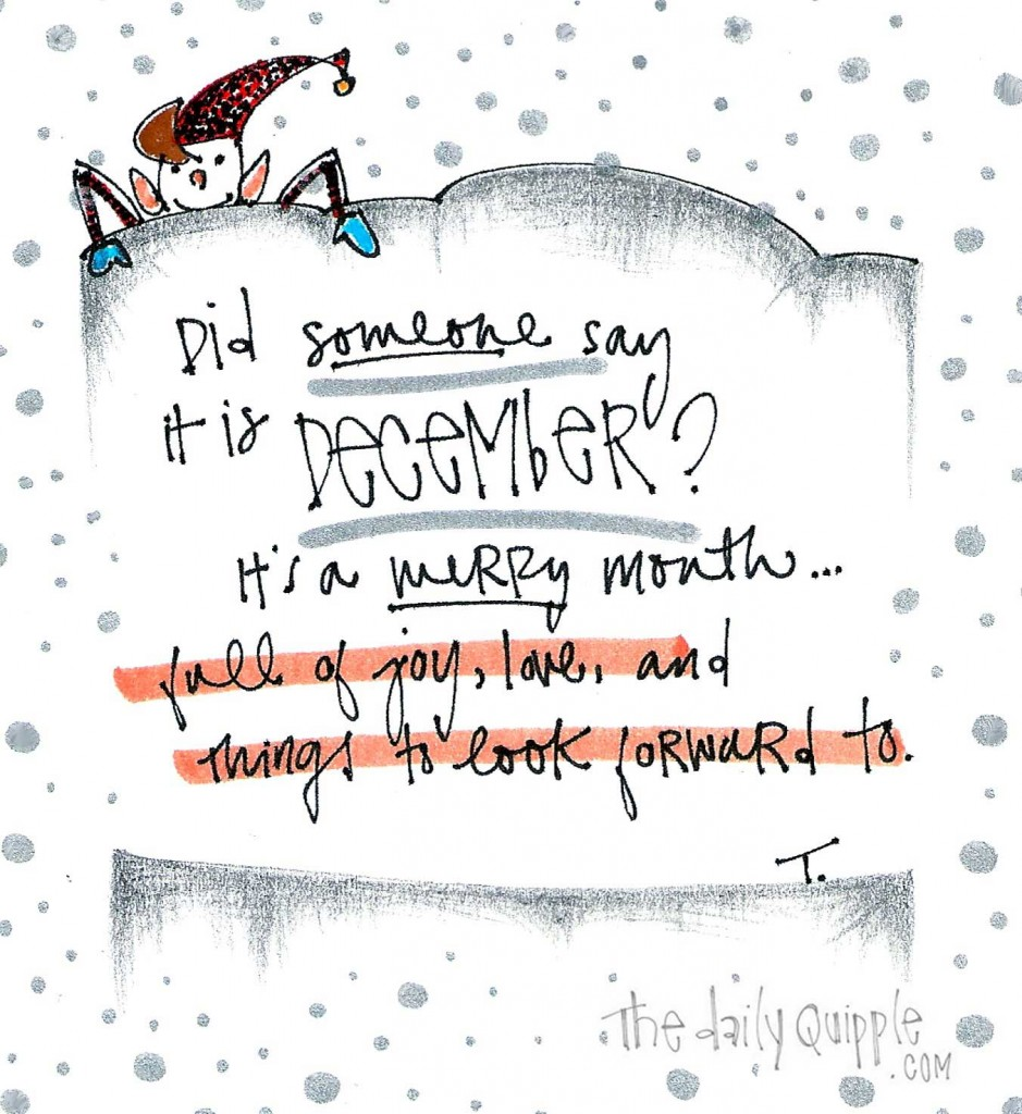 Did someone say it is December? It's a merry month...full of joy, love, and things to look forward to.