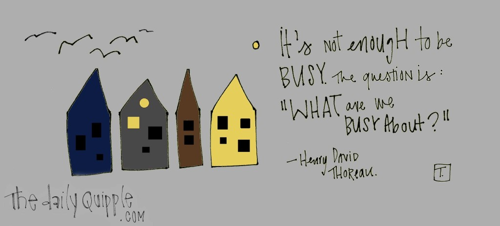 """""""It's not enough to be busy. The question is, 'What are you busy about?'"""" -Henry David Thoreau"""
