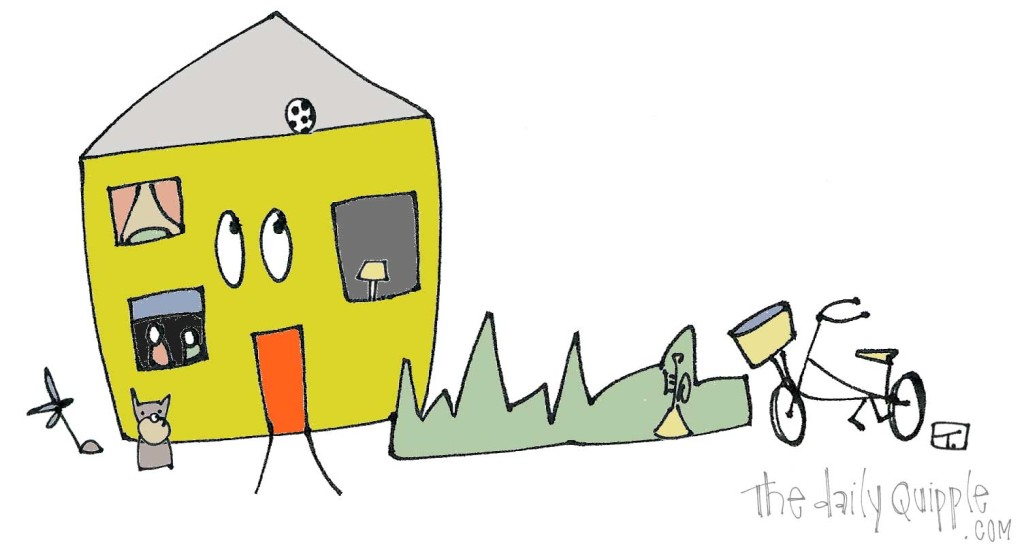 Lived In House | a fun illustration from The Daily Quipple