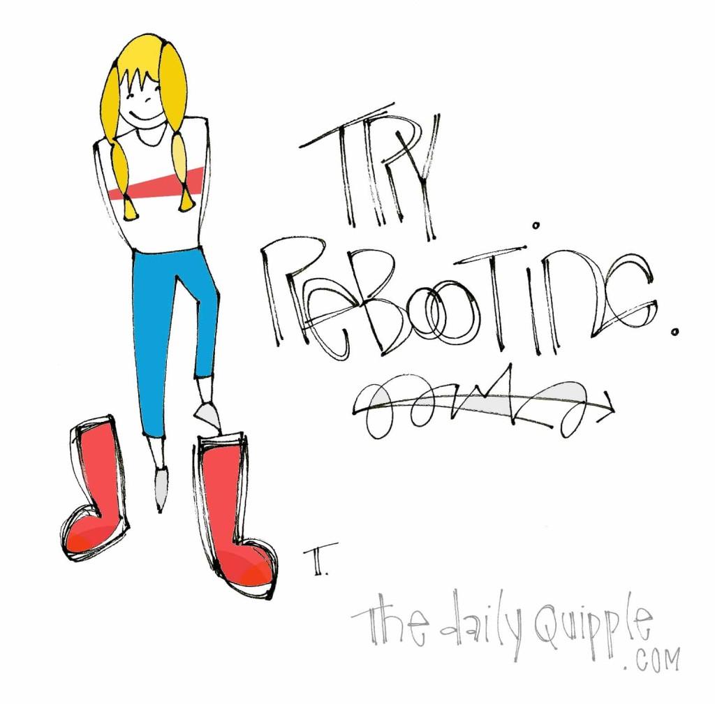 Try rebooting.