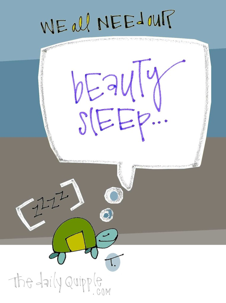 We all need our beauty sleep… [zzzz]