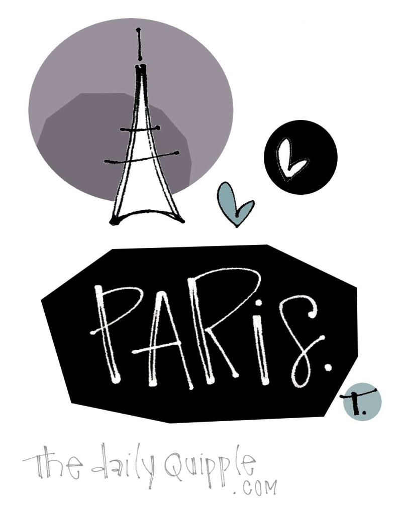 Paris and hearts.