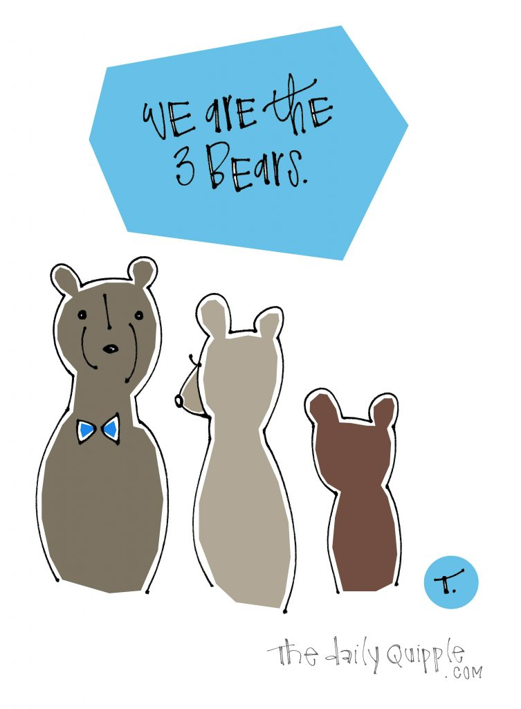 We are the 3 bears.