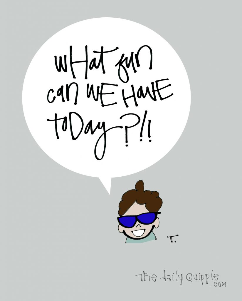 Illustration of a cool kid and words: What fun can we have today?