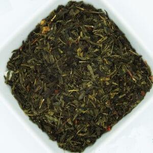 Loose leaf strawberry green tea