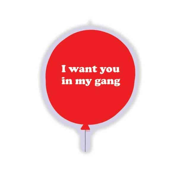 Gang Red Balloon Sticker