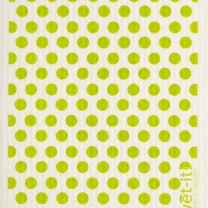 Green Dots and Dots Swedish Cloth