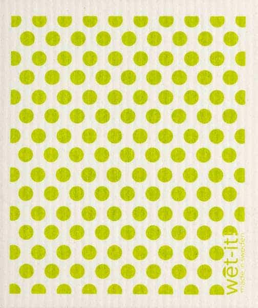 Green Dots and Dots Swedish Cloth