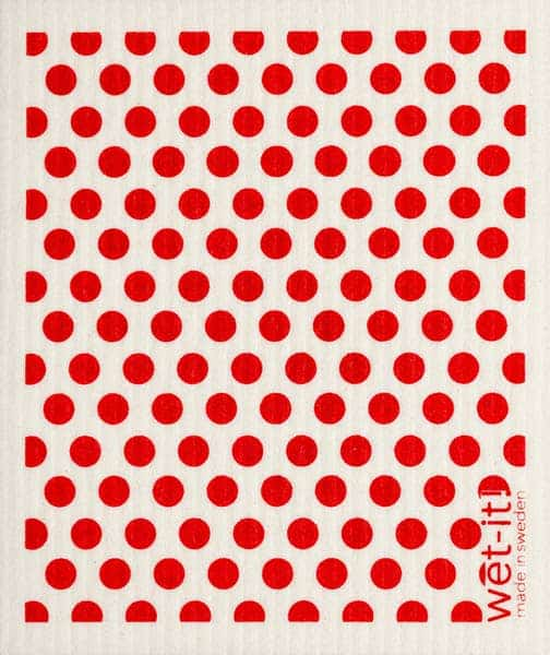 red dots and dots swedish cloth