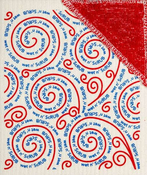wet n' scrub red swirls