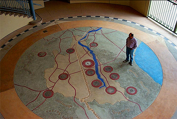 Rotunda Mapping and Valley Story Benches
