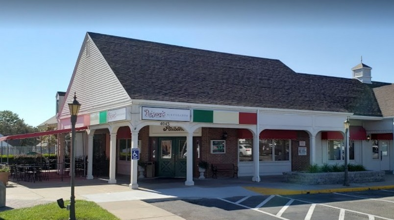 Paisano's Ristorante in Topkea fails restaurant inspection; employee wearing gloves scrapes soiled dish then removing sanitized dish ware, touching food contact surface, without removing the soiled gloves and washing hands
