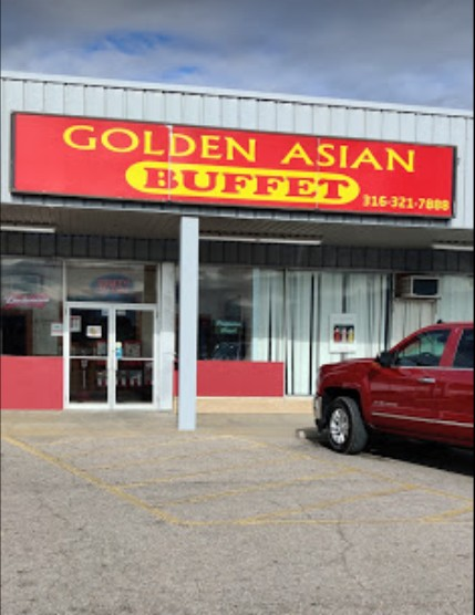 Inspection CLOSES Golden Asian Cuisine in El Dorado; Mice chewing through a small bag of rice flour; 3 live baby cock roaches, approximately 80 fresh mouse droppings