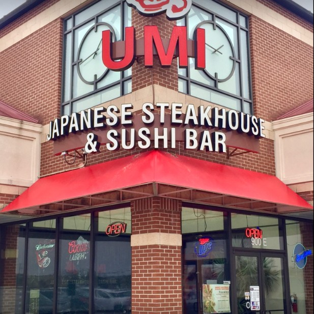 Inspection UMI Japanese Steakhouse in Manhatten finds live cockroach crawling on the uncooked rice in the rice bin, 6 violations