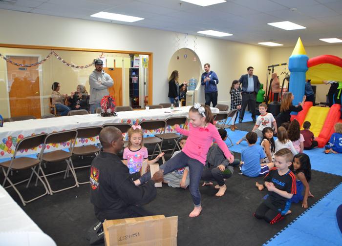 Kids at Karate Birthday having fun