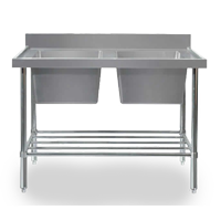 Commercial stainless bench