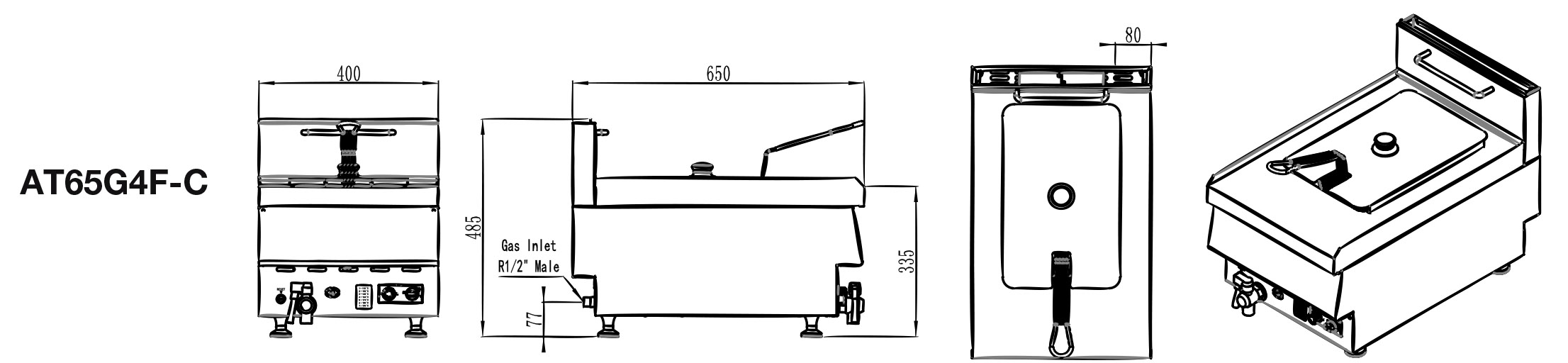 Commercial Benchtop Fryer Dimensions