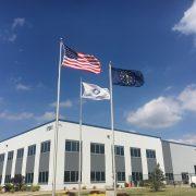 American Flag, Custom Concrete Flag and Indiana State Flag