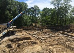 panoramic photo of a custom home foundation footings