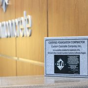 CFA Certified Foundation Contractor plaque