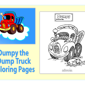 Julie Andrews Dumpy The Dumptruck Coloring Pages